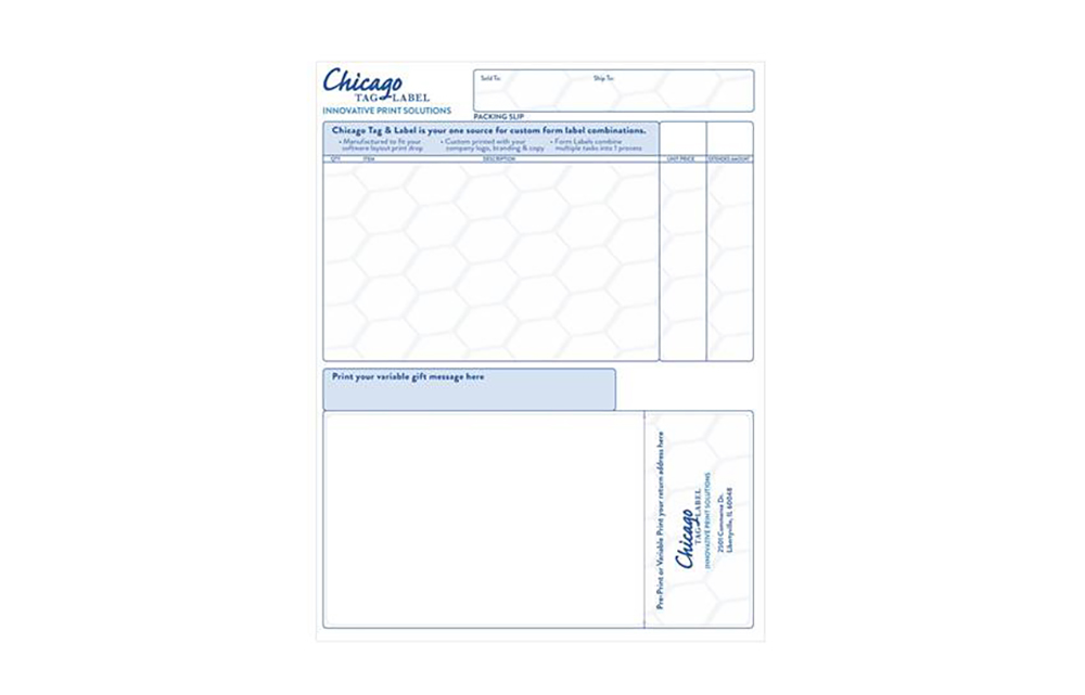 Integrated Label Forms | Chicago Tag & Label