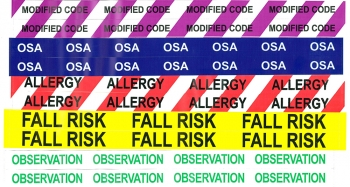 Chicago Tag and Label color coded alert bands