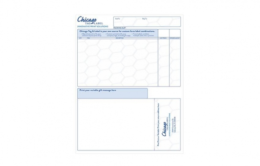Chicago Tag and Label integrated form label