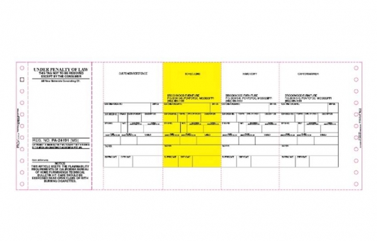 Chicago Tag and Label manufacturing forms